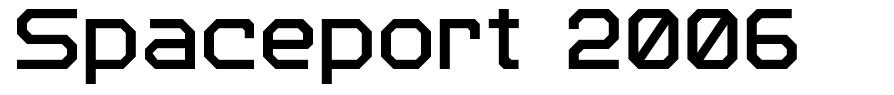 Spaceport 2006 font