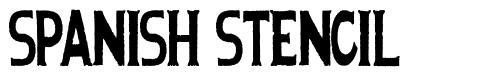 Spanish Stencil font