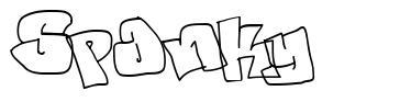 Spanky 字形