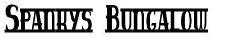 Spankys Bungalow font