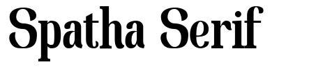 Spatha Serif font