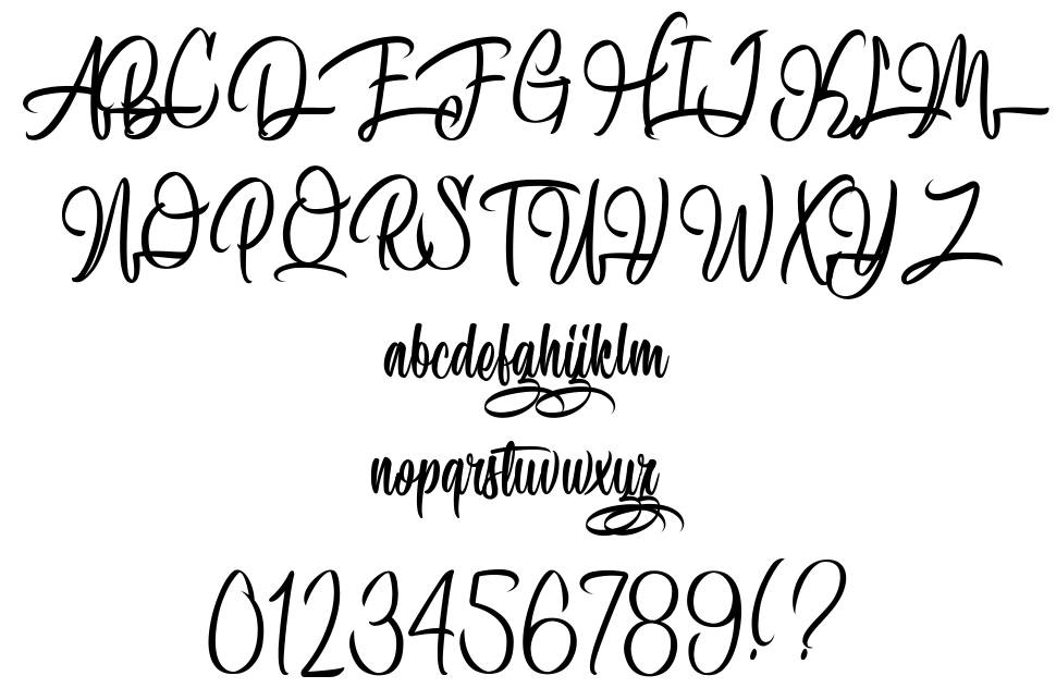 Speciality of Rodrigues font