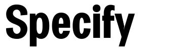 Specify font