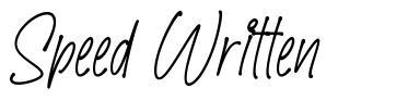 Speed Written