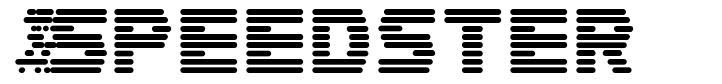 Speedster font