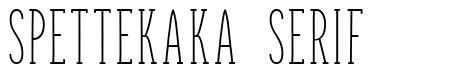 Spettekaka Serif