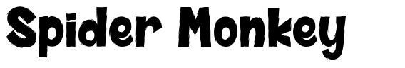 Spider Monkey font