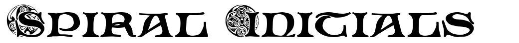 Spiral Initials шрифт