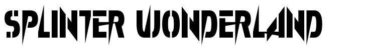 Splinter Wonderland フォント