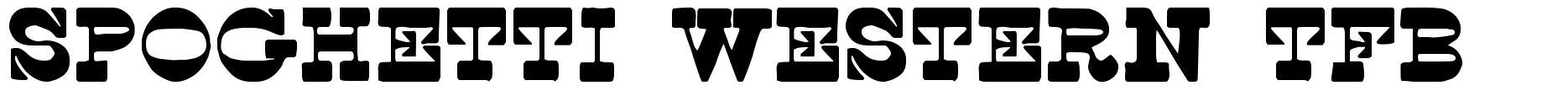 Spoghetti Western TFB font