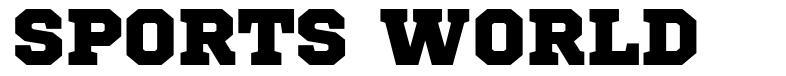 Sports World 字形
