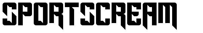 Sportscream font