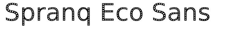 Spranq Eco Sans 字形