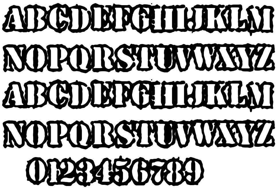 Spray Army Division font