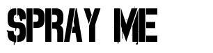Spray Me font