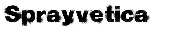 Sprayvetica font