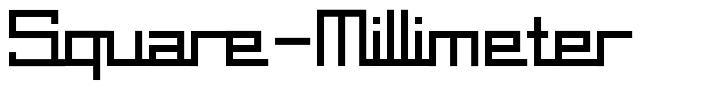 Square-Millimeter font