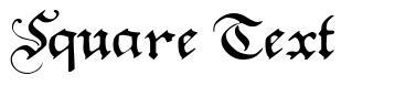 Square Text font