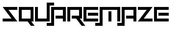 Squaremaze フォント