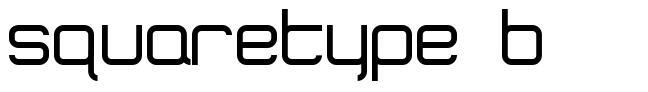 SquareType B font