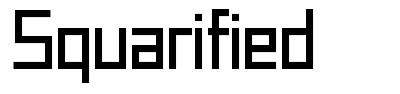Squarified font