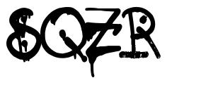 SQZR font