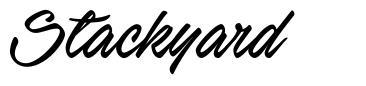 Stackyard font