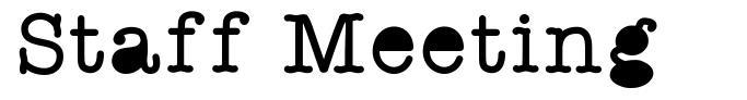 Staff Meeting font