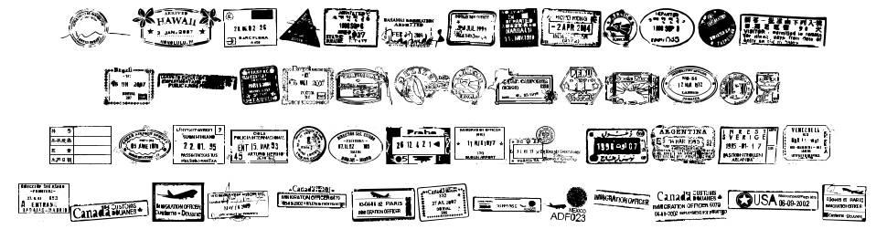 Stamp Seal TFB font