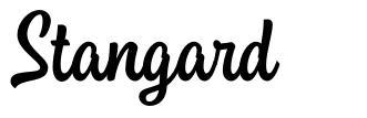 Stangard font