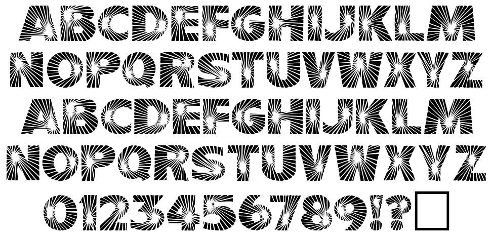 Starbust font