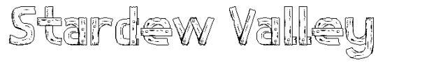 Stardew Valley font