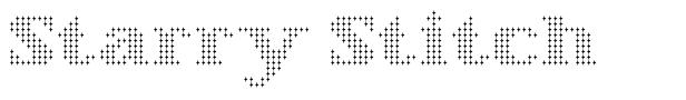 Starry Stitch font