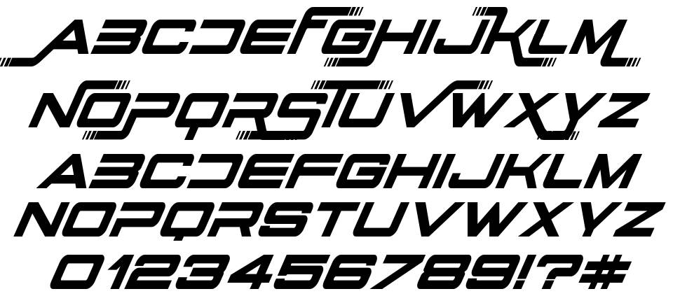 Stars Fighters font