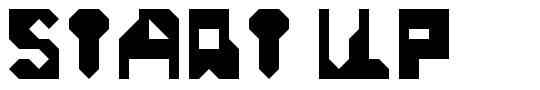 Start Up font