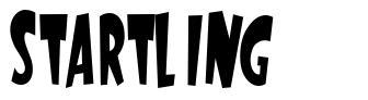 Startling font