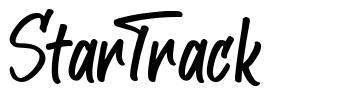 StarTrack font