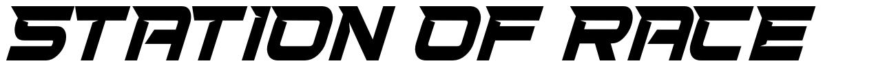 Station Of Race font