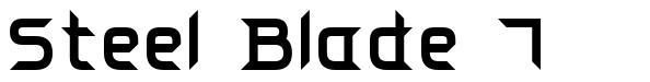 Steel Blade 7 font