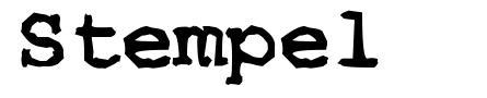 Stempel font