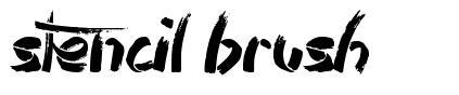 Stencil Brush font