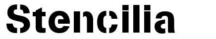 Stencilia font