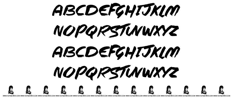 Steppers font