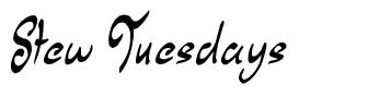 Stew Tuesdays font