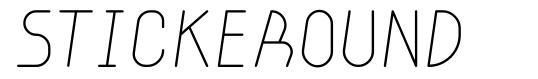 Stickeround 字形