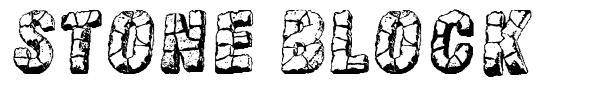 Stone block шрифт