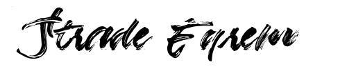 Strade Eqrem шрифт