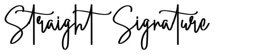 Straight Signature