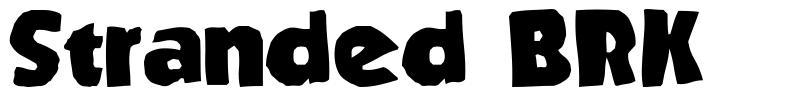 Stranded BRK шрифт