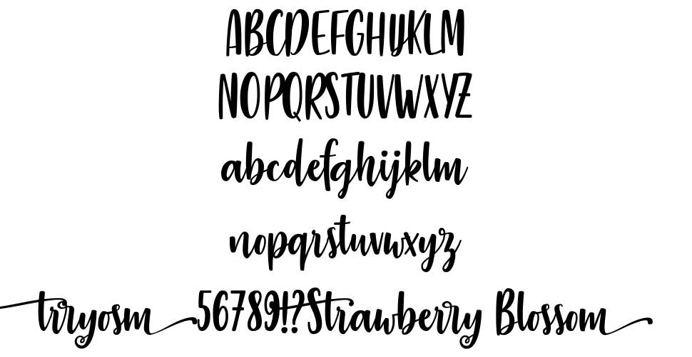 Strawberry Blossom font